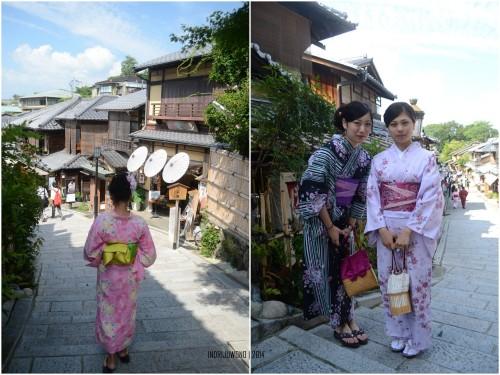 apalagi sambil pakai yukata di musim panas kyoto