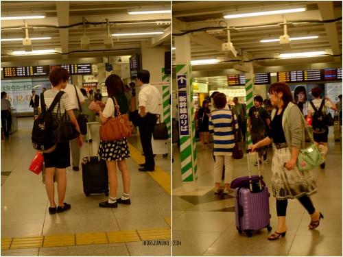 koper berbagai ukuran dan warna di stasiun shin-osaka