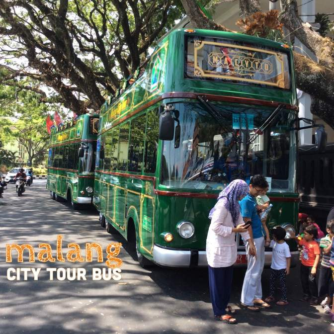enjoy atmosphere with malang city tour bus