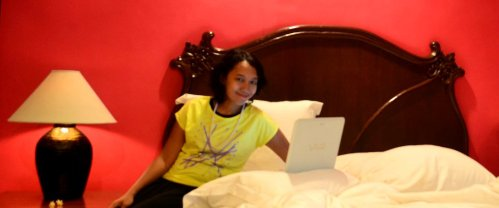 working within room