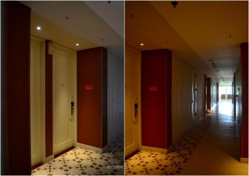 koridor dengan lantai bercorak