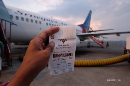 dobel boarding pass, sriwijaya air dan nam air
