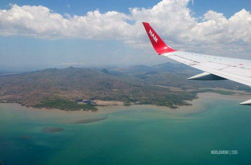 pulau timor dari udara