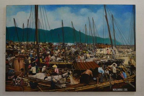 pendaratan pengungsi di pulau galang