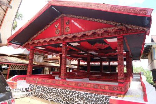 bangunan sementara tempat upacara